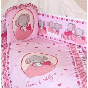 Комплект в кроватку Золотой гусь Слоник Боня 7 предметов (розовый) 1916 золотой гусь сладкий сон розовый 1096