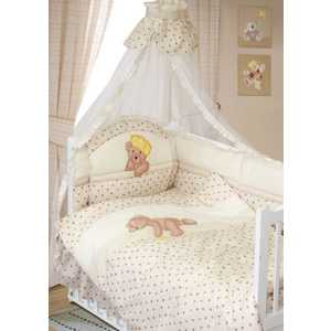 Комплект в кроватку Золотой гусь Мишка-Царь 8 предметов (бежевый) 1083