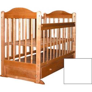 Кроватка Ивашка ''Мой малыш 8'' поперечный маятник/ящик (белый)