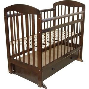 Кроватка Ивашка ''Мой малыш 8'' поперечный маятник/ящик (темный)