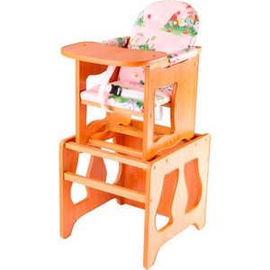 Стол-стул для кормления ПМДК ''Премьер'' (полянка/светлый орех)
