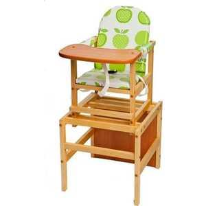 Стол-стул для кормления ПМДК ''Октябренок'' (яблоко/дуб)