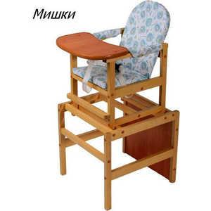 Стол-стул для кормления ПМДК ''Октябренок лайт'' (мишки/светлый дуб/бук)