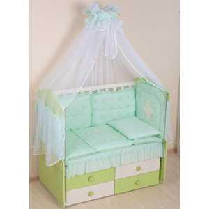 Комплект в кроватку Сдобина Пеша 6 предметов (салатовый) 48.2 комплект в кроватку сдобина 6 предметов махровый бирюзовый 73
