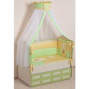 Комплект в кроватку Сдобина Пасечник 7 предметов (салатовый) 64 комплект в кроватку sweet baby vela beige бежевый с рис 7 предметов сатин