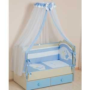 Комплект в кроватку Сдобина Мой маленький друг 7 предметов (голубой) 50.1 конверт для новорожденного сдобина мой маленький друг бежевый 50 115