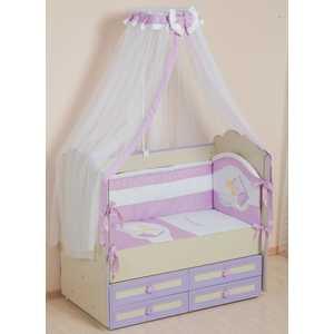 Фотография товара комплект в кроватку Сдобина ''Мой маленький друг'' 7 предметов (фиолетовый) 50.1 (238650)