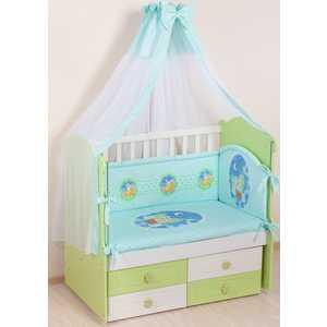 Комплект в кроватку Сдобина 7 предметов (салатовый) 59 комплект в кроватку сдобина 6 предметов махровый бирюзовый 73