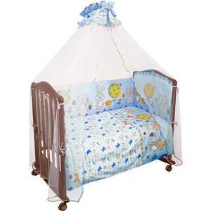 Фотография товара комплект в кроватку Сонный Гномик ''Акварель'' 120х60см 7 предметов (голубой) бязь 706 (238711)