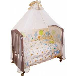 Комплект в кроватку Сонный Гномик ''Акварель'' 120х60см 7 предметов (розовый) бязь 706
