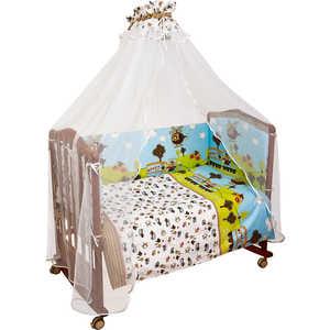 Комплект в кроватку Сонный Гномик Каникулы 120х60см 7 предметов (голубой) бязь 708 комплекты в кроватку сонный гномик каникулы 7 предметов