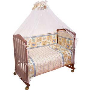 Комплект в кроватку Сонный Гномик ''Считалочка'' 120х60см 7 предметов (бежевый) 705