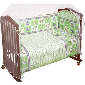 Комплект в кроватку Сонный Гномик ''Считалочка'' 120х60см 7 предметов (салатовый) 705
