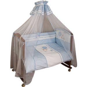 Комплект постельного белья Сонный Гномик ''Ля-ля-ля'' 3 предмета (голубой) сатин 346