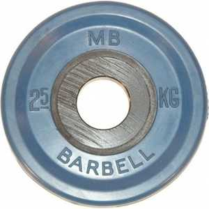 Диск обрезиненный MB Barbell 51 мм 2.5 кг синий Евро-Классик (Олимпийский) диск обрезиненный mb barbell 51 мм 25 кг красный евро классик олимпийский