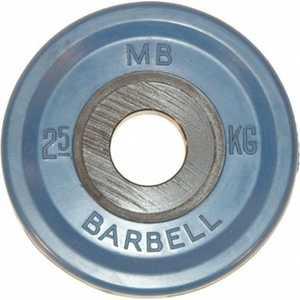 Диск обрезиненный MB Barbell 51 мм 2.5 кг синий Евро-Классик (Олимпийский) евро классик диск 10 кг 51 мм barbell mb pltbe 10