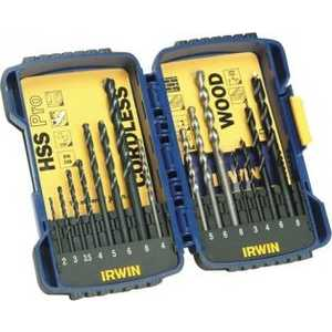 Набор сверл Irwin 2.0-8.0мм 15шт Pro Combi (10503993) 4 12mm 4 20mm 4 32mm hss steel step drill bits set silver 3 pcs