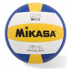 Мяч волейбольный Mikasa MV210, р.5, бел-желт-син