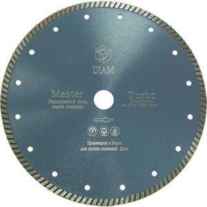 Диск алмазный Diam 230х22.2мм Master Турбо (000161) диск алмазный diam 400х60 25 4мм marble elite корона 000238