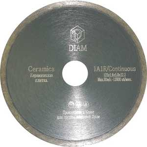 Диск алмазный Diam 180х22.2мм Ceramics Корона (000211) круг алмазный diam 1a1r 250 1 6 7 32 25 4 круг алмазный гранит 000243