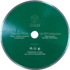 Диск алмазный Diam 200х25.4мм Granite-Elite Корона (000156) круг алмазный diam 1a1r 250 1 6 7 32 25 4 круг алмазный гранит 000243