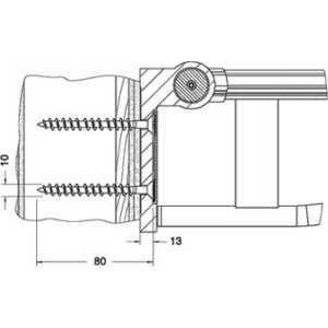 Крепежный комплект Keuco Plan care №5 для древесины (34991000200)