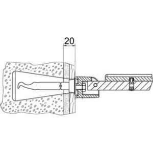 Крепежный комплект Keuco Plan care №11 для пористого бетона (34997000100)