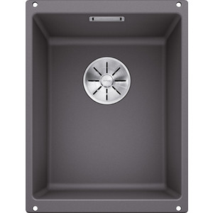 Мойка кухонная Blanco Subline 320-u темная скала (523407/518952) мойка subline 350 150 u cer basalt 516976 blanco