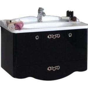 Тумба с раковиной Акватон Венеция 90 черный глянец (1A155601VN950 + 1A707131VN010) акватон мебель для ванной акватон венеция 75 черная