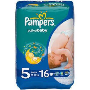 Подгузники Pampers Active Baby Junior 11-18кг 16шт Стандартная 4015600003043 подгузники pampers active baby dry размер 4 7 14 кг 132 шт