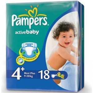 Подгузники Pampers ''Active Baby Maxi Plus'' 9-16кг 18шт Стандартная 4015600002886