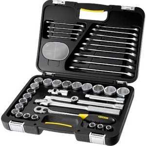 Набор торцевых головок Stanley и комбинированных ключей 40 предметов (1-99-056) stanley 1 99 056 набор торцевых головок и ключей 40 предметов