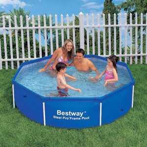 Каркасный бассейн Bestway 2.44х0.61м (56045/56431) бассейн каркасный bestway 56457 56244 прямоугольный 412х201х122 см