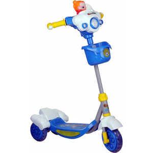 Самокат 3-х колесный Lider Kids с мишкой (голубой) XG5201P