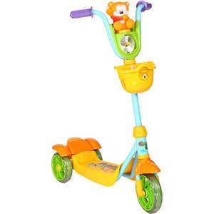 Самокат 3-х колесный Leader Kids с собачкой/мишкой (зеленый/желтый) XG5102C-002 самокат leader kids jc 640 pink