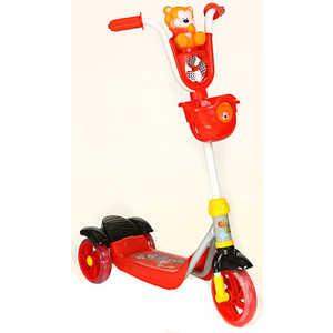 Самокат 3-х колесный Lider Kids с мишкой (красный/черный) XG5102C-003