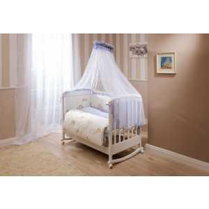 Комплект постельного белья Perina ''Тиффани'' 3 предмета (молочный/голубой/мишки) сатин Т3-01.4
