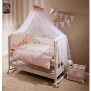 Комплект постельного белья Perina ''Тиффани'' 3 предмета (молочный/розовый/мишки) сатин Т3-01.3