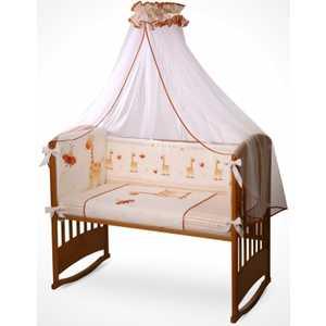 Комплект в кроватку Perina Кроха 7 предметов (жирафики/бежевый) К7-01.2 комплекты в кроватку mummys hugs облака 125х65 см 7 предметов