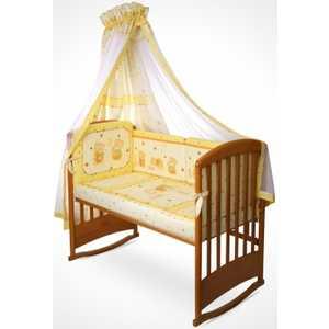 Комплект в кроватку Perina Ника 7 предметов (мишка на подушке/бежевый) Н7-01.2 матрасы candide дышащий со съемным чехлом 60х120x11 см