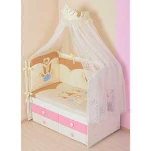Фотография товара комплект в кроватку Сдобина ''Принцесса'' 7 предметов (бежевый) 83 (253202)