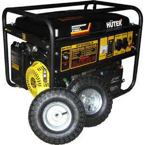 Генератор бензиновый Huter DY6500LX с колёсами и аккумулятором генератор бензиновый eurolux g2700a