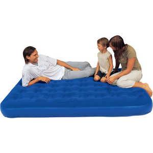 Кровать флокированная Bestway 188х99х23см (синяя), встр.ножной насос (67224N)