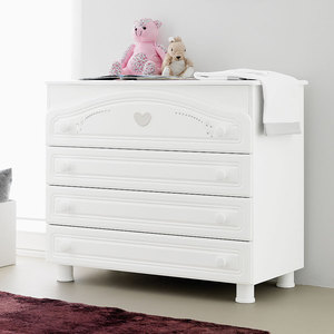 "Комод Pali ""Baby Bath Little Star Prestige"" 3 ящика (белый)"