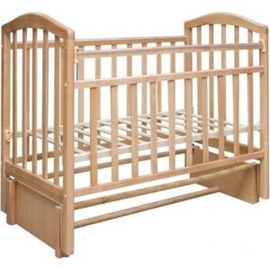Кроватка Антел Алита-5 продольный маятник/автостенка (бук) обычная кроватка антел алита 5 орех