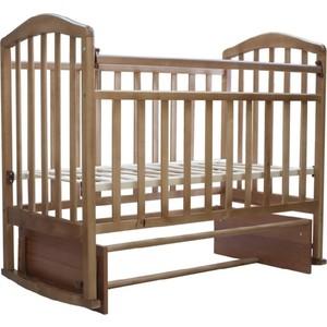 Кроватка Антел Алита-5 продольный маятник/автостенка (орех) детские кроватки антел каролина 5 маятник продольный