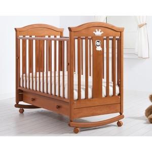 Кроватка Гандылян Даниэль колеса/качалка/ящик вишня К-2002-29 детские кроватки гандылян габриэлла люкс качалка