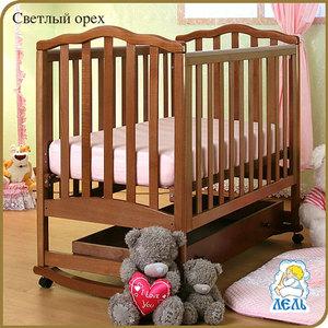 Кроватка-качалка Кубаньлесстрой Жасмин с ящиком (светлый орех) АБ 19.1 кроватка качалка лель ромашка аб 16 0 орех светлый