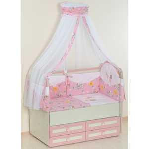 Купить комплект в кроватку Сдобина 5 предметов (розовый) 25.4 (254504) в Москве, в Спб и в России
