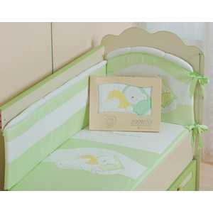 Комплект постельного белья Сдобина Мой маленький друг (салатовый) 50.112 конверт для новорожденного сдобина мой маленький друг бежевый 50 115